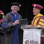 Man received degree on stage