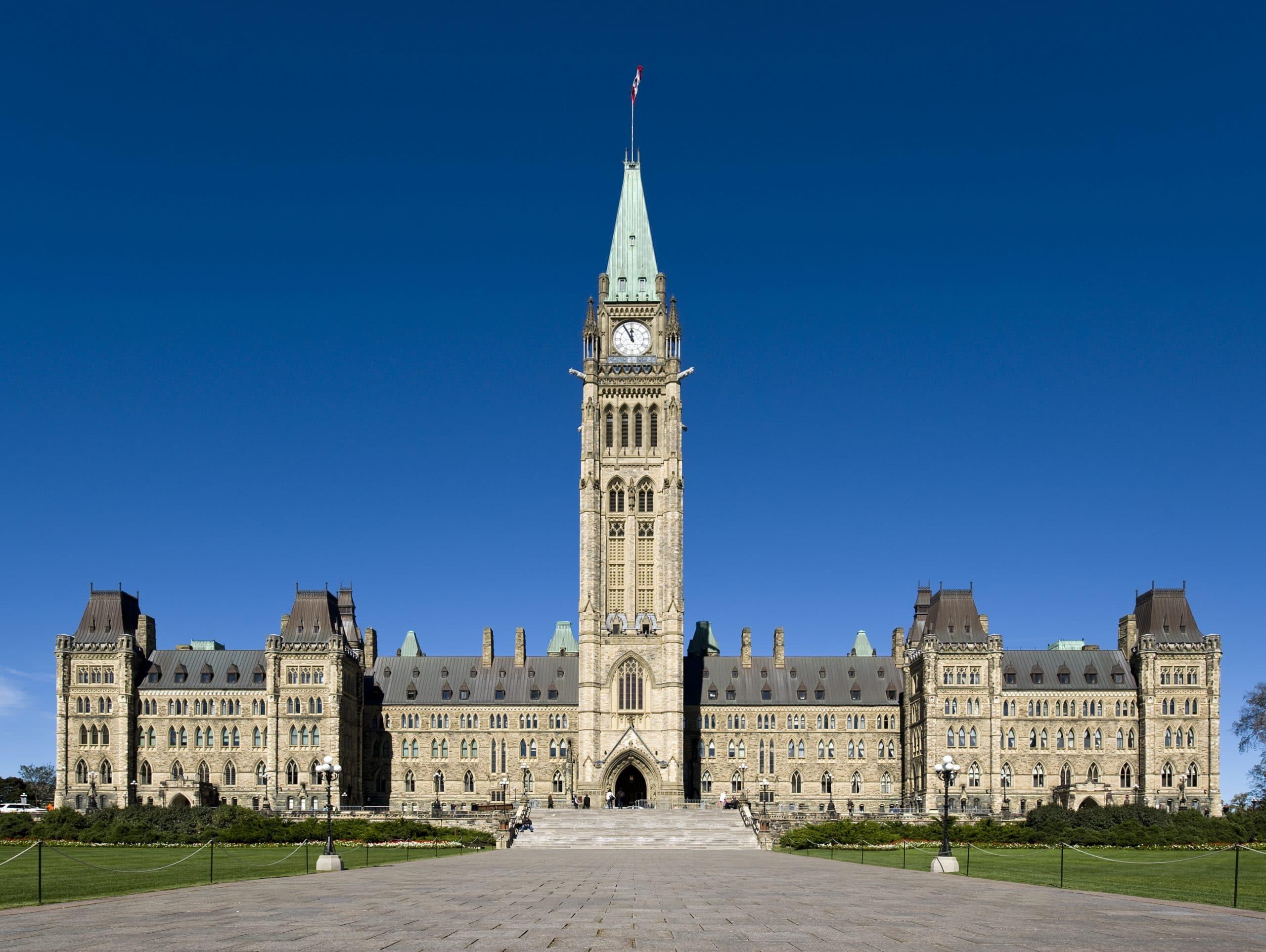Parliament Hill building in Ottawa