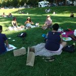 Farewell picnic for our two MPH students Neeru Hayre and Raveena Gill (July 2020)