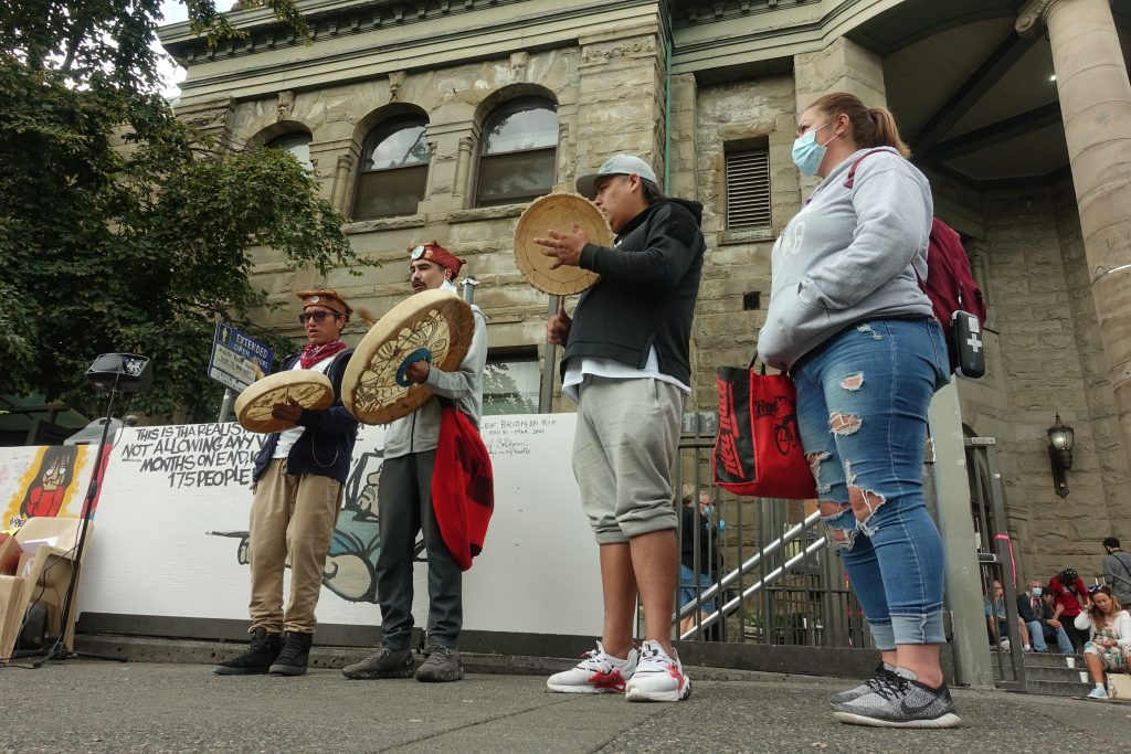 International Overdose Awareness Day DTES rally; Vancouver; Aug. 31, 2020