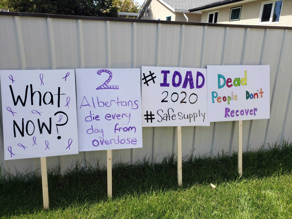 Rally to save ARCHES and SCS in Lethbridge; Lethbridge, AB; Aug. 31, 2020