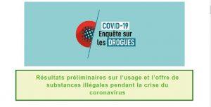 COVID-19 Enquête sur les drogues