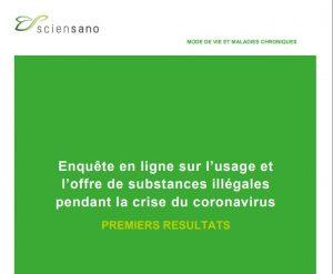 Enquête en ligne sur l'usage et l'offre de substances illégales pendant la crise du coronavirus