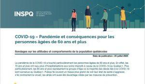 COVID-19 : Pandémie et conséquences pour les personnes âgées de 60 ans et plus