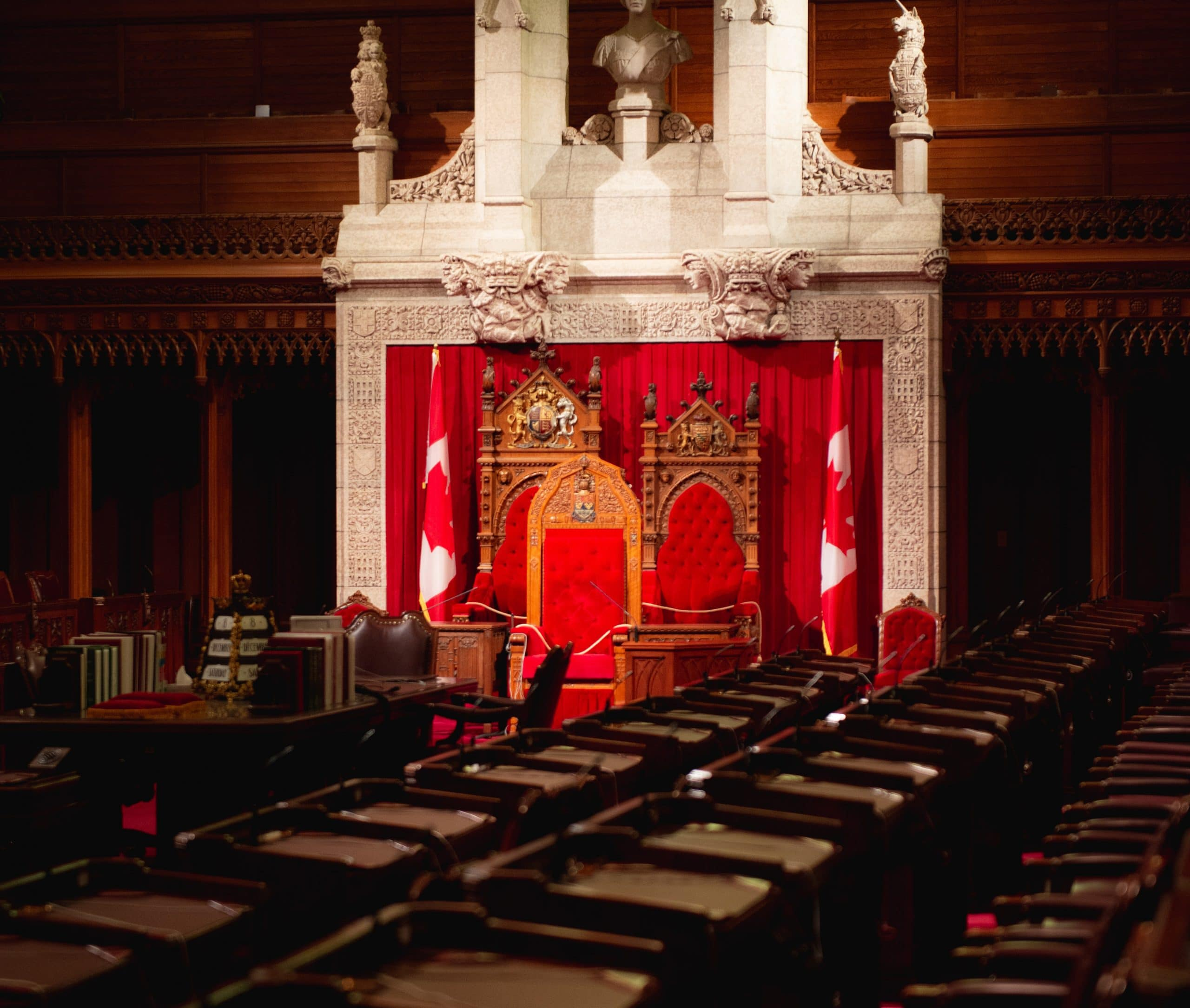 Interior of Parliament in Ottawa